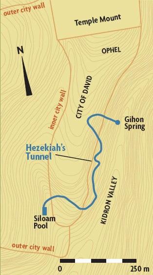 Hezekiah's Tunnel diagram