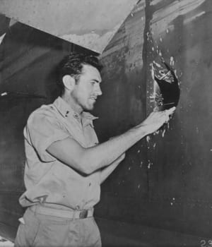 zamparini-inspecting-his-damaged-b52-bomber